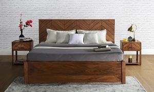Monique King Size Bed with Storage