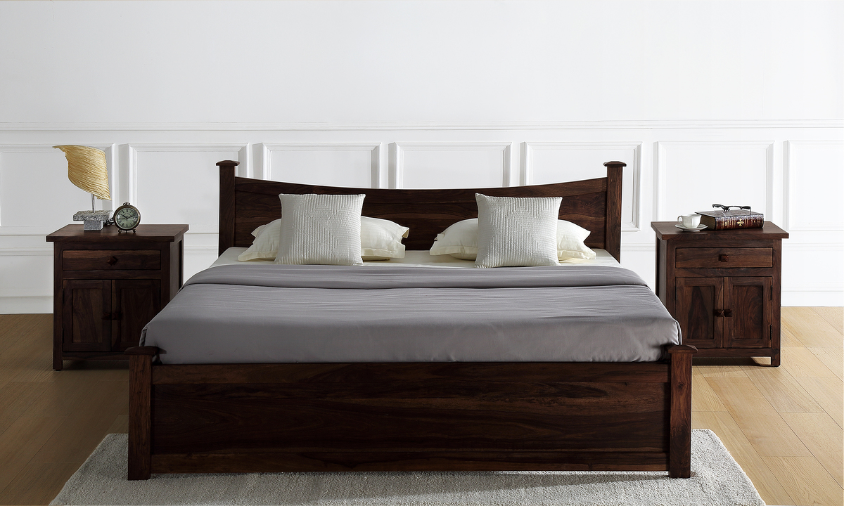 Buy wellington bed with drawer storage king online in for Buy king bed online