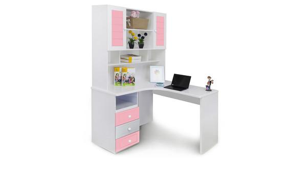 Corner Study Table, Pink