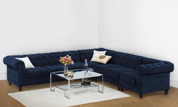 Cassandra L Shape Corner Sofa, 6 Seater (R)