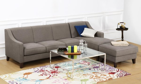 Hayden L Shape Sofa, 3 Seater with Chaise & Ottoman (R)