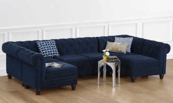 Cassandra U Shape Corner Sofa, 4 Seater