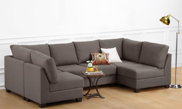 Oliver U Shape Corner Sofa, 4 Seater