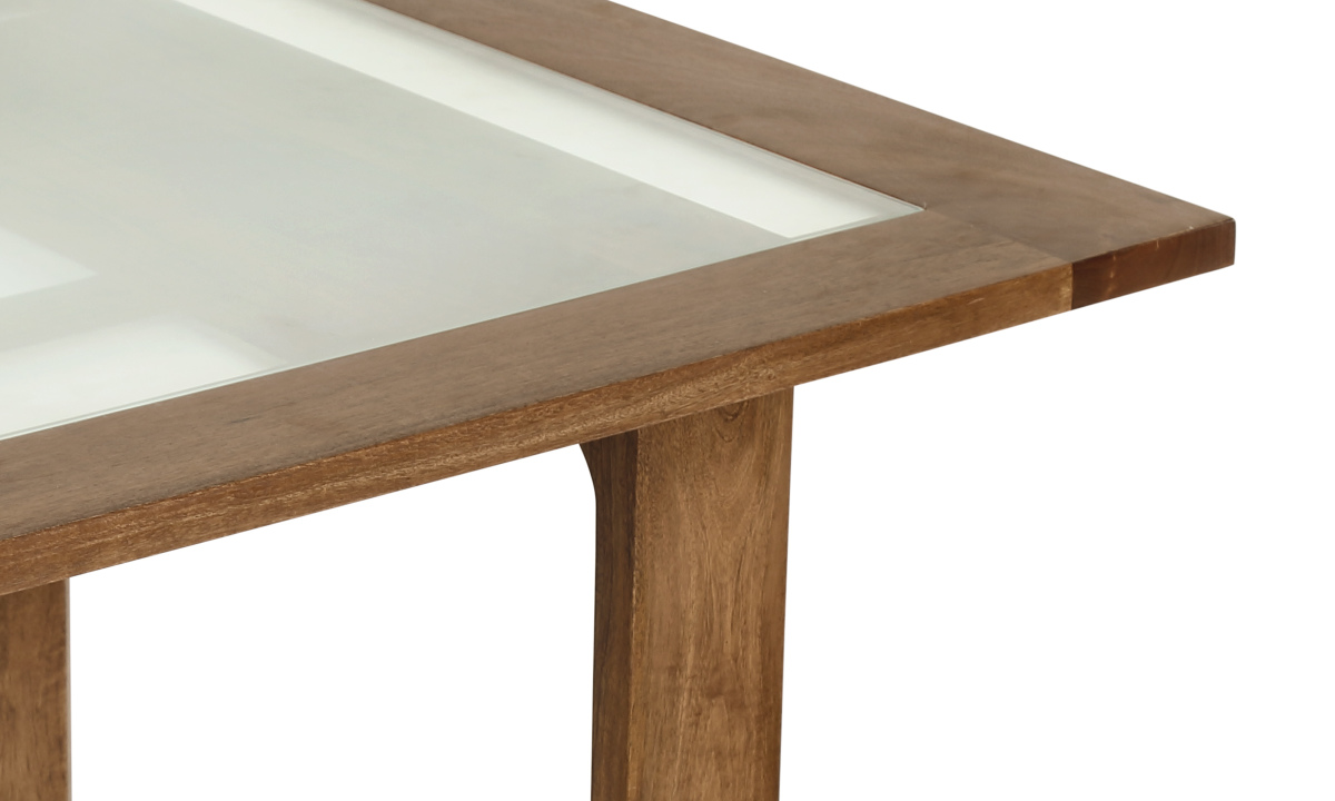 seater dining table v2 2 with solid wood inset glass table