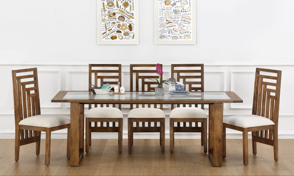 Marlow 8 Seater Dining Table Glass Top
