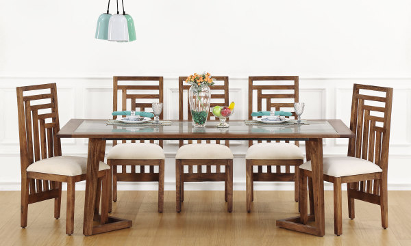 Anders 8 Seater Dining Table Glass Top
