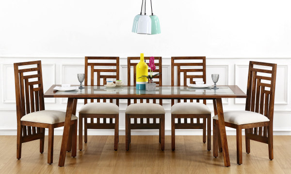Evert 8 Seater Dining Table, Glass Top
