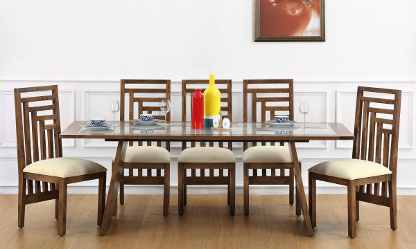 Larne 8 Seater Dining Table Glass Top