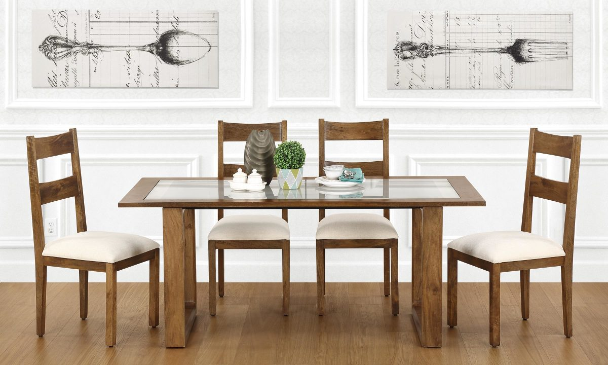 Buy Marlow 6 Seater Dining Table Glass Top Online In India