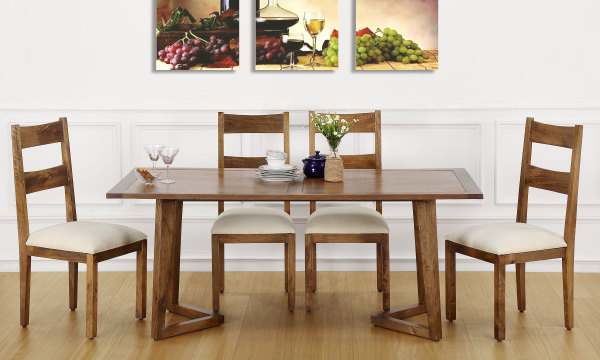 Anders 6 Seater Dining Table Veneer Top