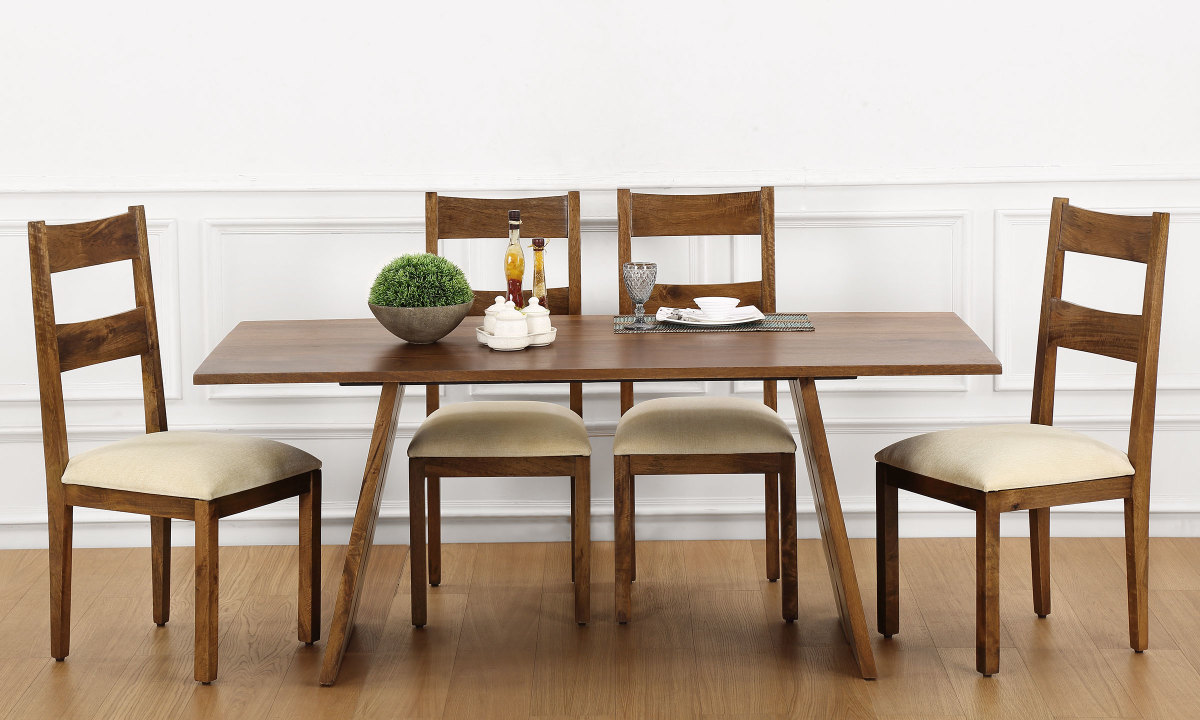 Buy larne 6 seater dining table online in india for Buy dining table