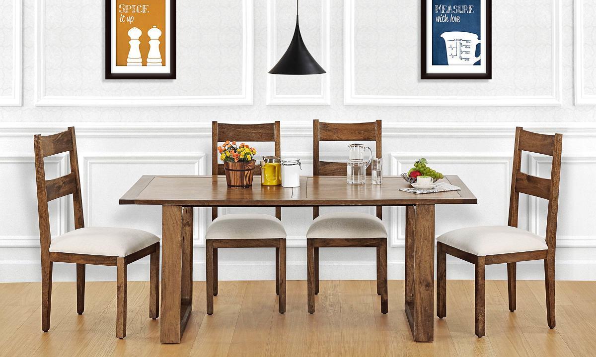 Buy Marlow 6 Seater Dining Table, Veneer Top online in India ...