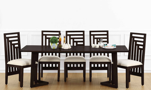 Anders 8 Seater Dining Table, Veneer Top