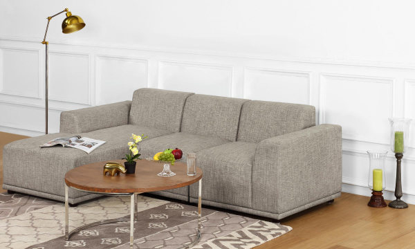 Axel L Shape Sofa, 2 Seater with Chaise, Left Aligned