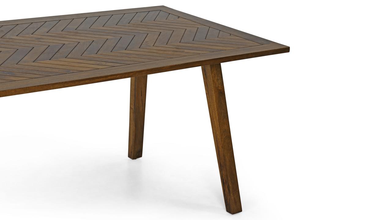 Buy evert 6 seater dining table chevron top online in for 6 seater dining table