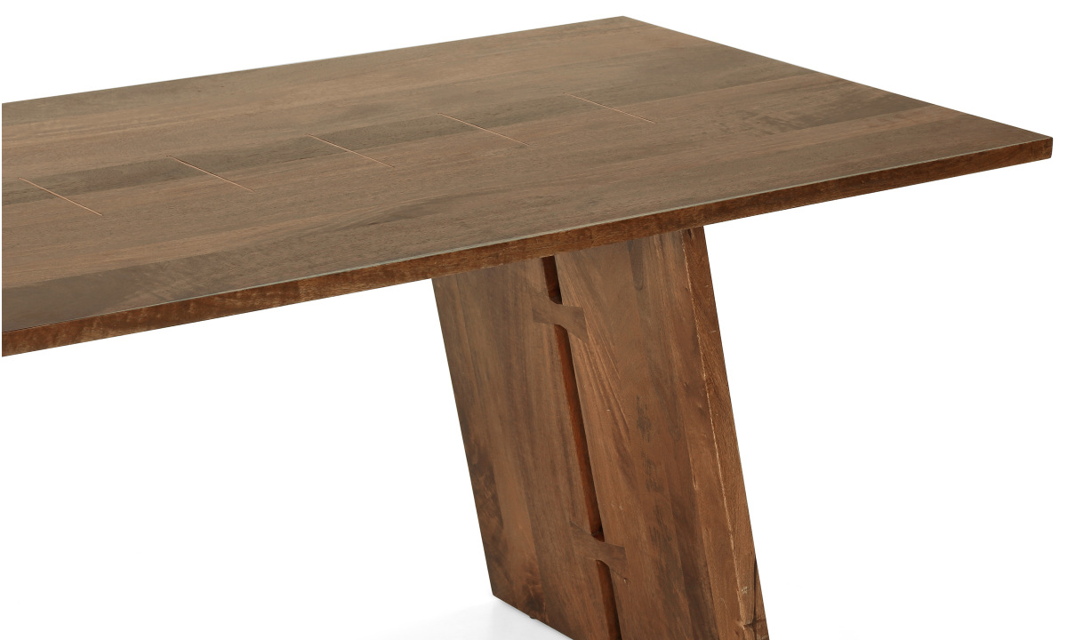 Buy larne 6 seater dining table horizontal strips online for Html horizontal table
